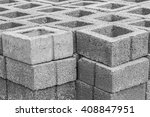 stacks of interlocking stones... | Shutterstock . vector #408847951