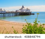 Eastbourne\'s Pier And Beach At...