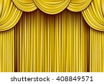 golden curtain | Shutterstock .eps vector #408849571