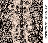 abstract seamless lace pattern... | Shutterstock .eps vector #408853159