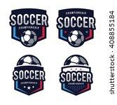 soccer logos  american logo... | Shutterstock .eps vector #408855184