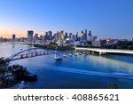 Brisbane City Skyline And...