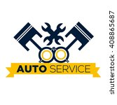 automotive logo template  | Shutterstock .eps vector #408865687