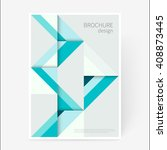 cover design template. brochure ... | Shutterstock .eps vector #408873445