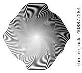 design monochrome illusion... | Shutterstock .eps vector #408875284