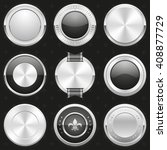 collection of silver and black... | Shutterstock .eps vector #408877729