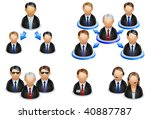 concepts business icons | Shutterstock .eps vector #40887787