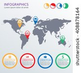 world map infographics template ... | Shutterstock .eps vector #408878164