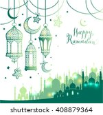 muslim abstract greeting... | Shutterstock .eps vector #408879364