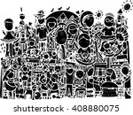 abstract vector of line art...