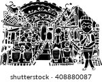 black vector art of hand draw... | Shutterstock .eps vector #408880087