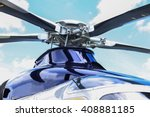 helicopter parking landing on...   Shutterstock . vector #408881185