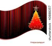 christmas tree | Shutterstock .eps vector #40888357
