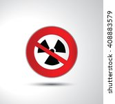 no nuclear radiation... | Shutterstock .eps vector #408883579