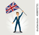 businessman smile and waving... | Shutterstock .eps vector #408893731