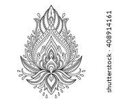 henna tattoo flower template in ... | Shutterstock .eps vector #408914161