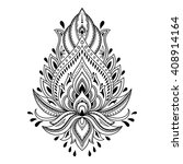 mehndi lotus flower pattern for ... | Shutterstock .eps vector #408914164
