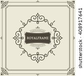 vector frame template. vintage... | Shutterstock .eps vector #408917641