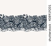 abstract seamless lace pattern... | Shutterstock .eps vector #408919201