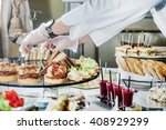 catering banquet table | Shutterstock . vector #408929299