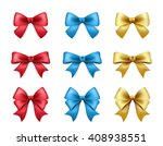 set of high quality color bows... | Shutterstock .eps vector #408938551