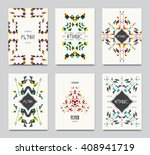 geometric colorful ethnic... | Shutterstock .eps vector #408941719