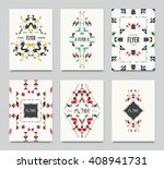 geometric colorful ethnic... | Shutterstock .eps vector #408941731