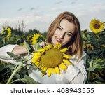 Beautiful Smiling Woman Posing...
