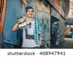 Man Skateboarder Lifestyle...