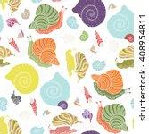 snails  shells  spirals ... | Shutterstock .eps vector #408954811