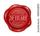 twenty years experience 3d... | Shutterstock .eps vector #408960805