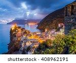Vernazza Village  Ocean Rugged...