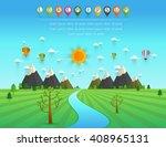 a river flowing through... | Shutterstock .eps vector #408965131