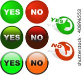 yes and no icon. vector... | Shutterstock .eps vector #40896553