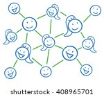 connected stickmen and... | Shutterstock .eps vector #408965701