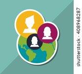 social media graphic design ... | Shutterstock .eps vector #408968287