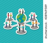 social media graphic design ... | Shutterstock .eps vector #408969589