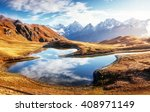 fantastic lake koruldi at the... | Shutterstock . vector #408971149