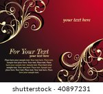 gold floral corner | Shutterstock .eps vector #40897231
