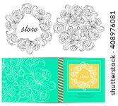 floral design elements for logo ... | Shutterstock .eps vector #408976081