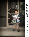 cute 3 year old mixed race... | Shutterstock . vector #408979855