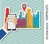 smart city vector design ... | Shutterstock .eps vector #408981691