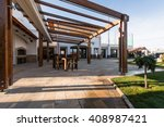 beautiful terrace lounge with... | Shutterstock . vector #408987421