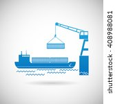 shipmentl symbol shipping icon... | Shutterstock . vector #408988081