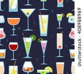 alcohol drinks and cocktails... | Shutterstock .eps vector #408988969
