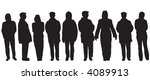 variety of different people... | Shutterstock .eps vector #4089913