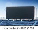 outdoor advertising billboard... | Shutterstock . vector #408991651