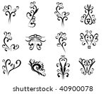 floral vector elements in... | Shutterstock .eps vector #40900078