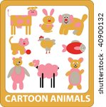 cartoon animals. vector | Shutterstock .eps vector #40900132