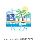 niza classic toristic scenery ... | Shutterstock .eps vector #409002979